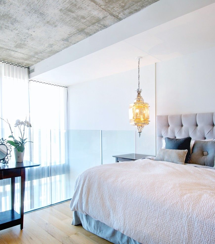 Modern Interior Design Light Fixtures Choice. Suspended lamp above the bed