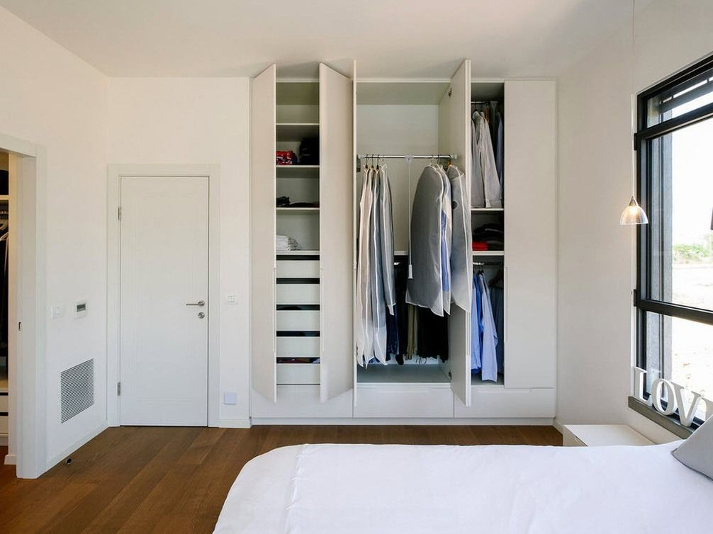 Dream Bedroom Wardrobe Decorating Ideas with built-in wall cabinet