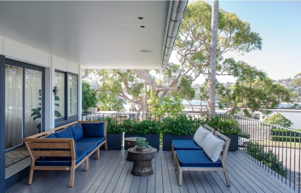 Australian Ocean Shore Private House Design Review. Nice relaxing area at the porch with upholstered furniture