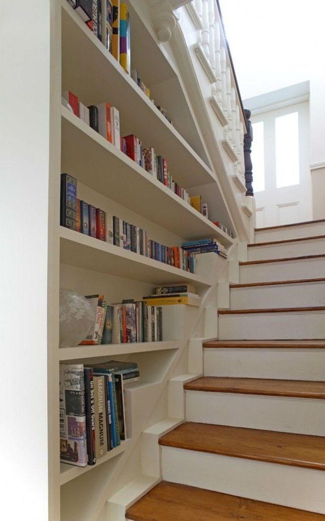 Nice Unusual Bookshelves Interior Decoration. Wise utilization of the stairs` space
