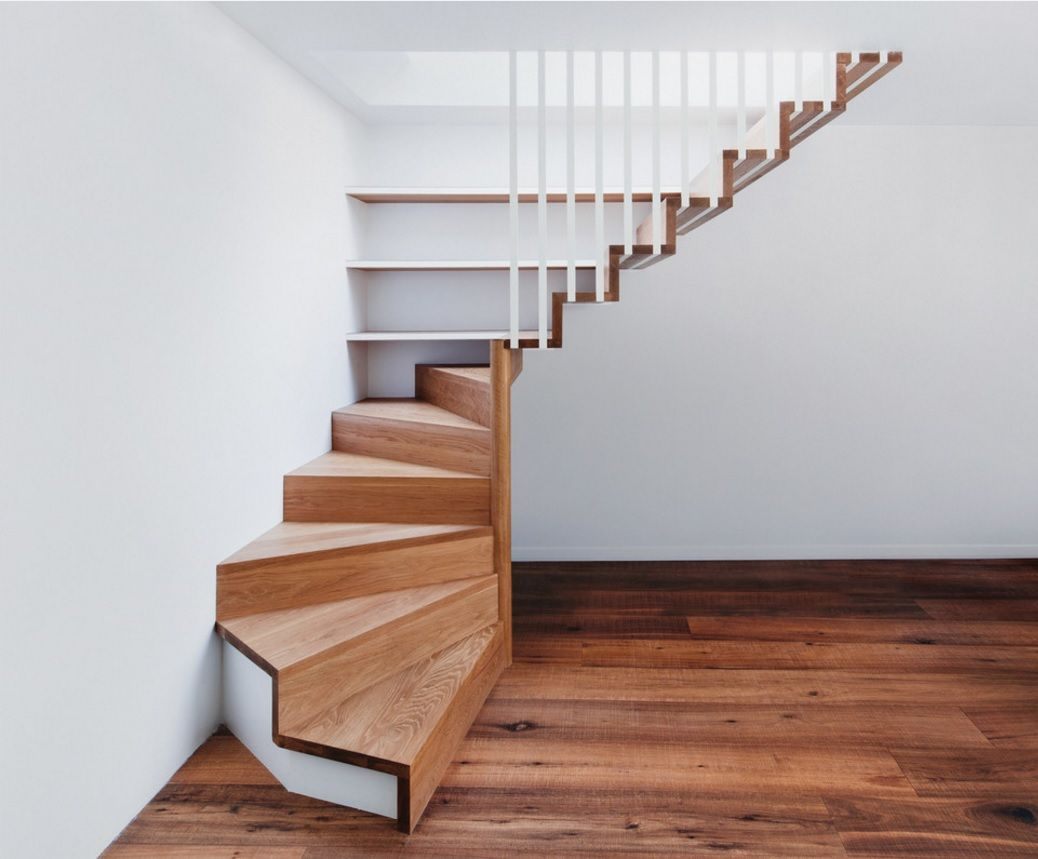 Modern interior staircase materials photo for Building winder stairs