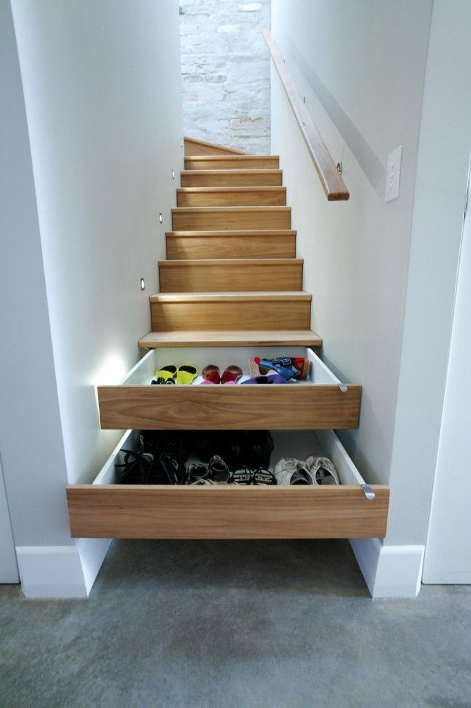Interior Staircase Original Design Ideas. Nice cozy storage system in the risers