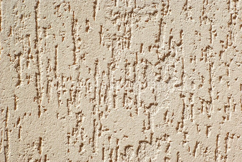 Woodworm Surface Thin-Layer Decorative Plaster Applying Instruction. Structure of the yellow natural pattern