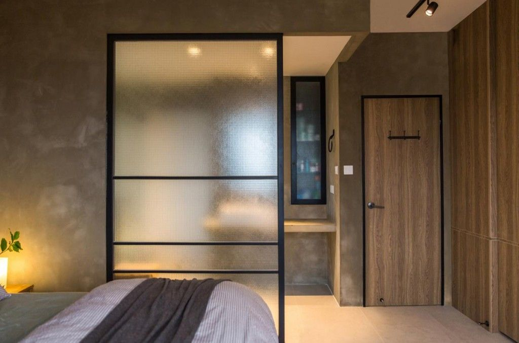 Interior Partitions Room Zoning Design Ideas. Sliding partition to zone the zleeping area