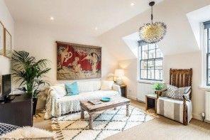 Scottish Apartment Unusual Country Interior Design. Rustic experimental design mix within one European living room