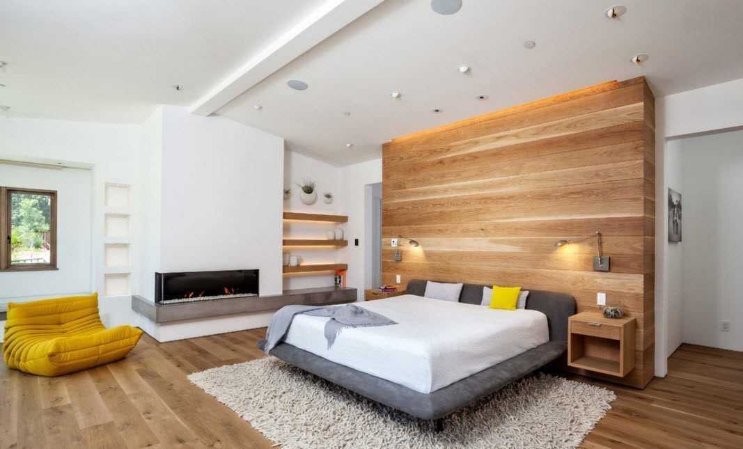 Modern Bedroom Design Trends 2016 . Natural materials must act as a highlight of the interior