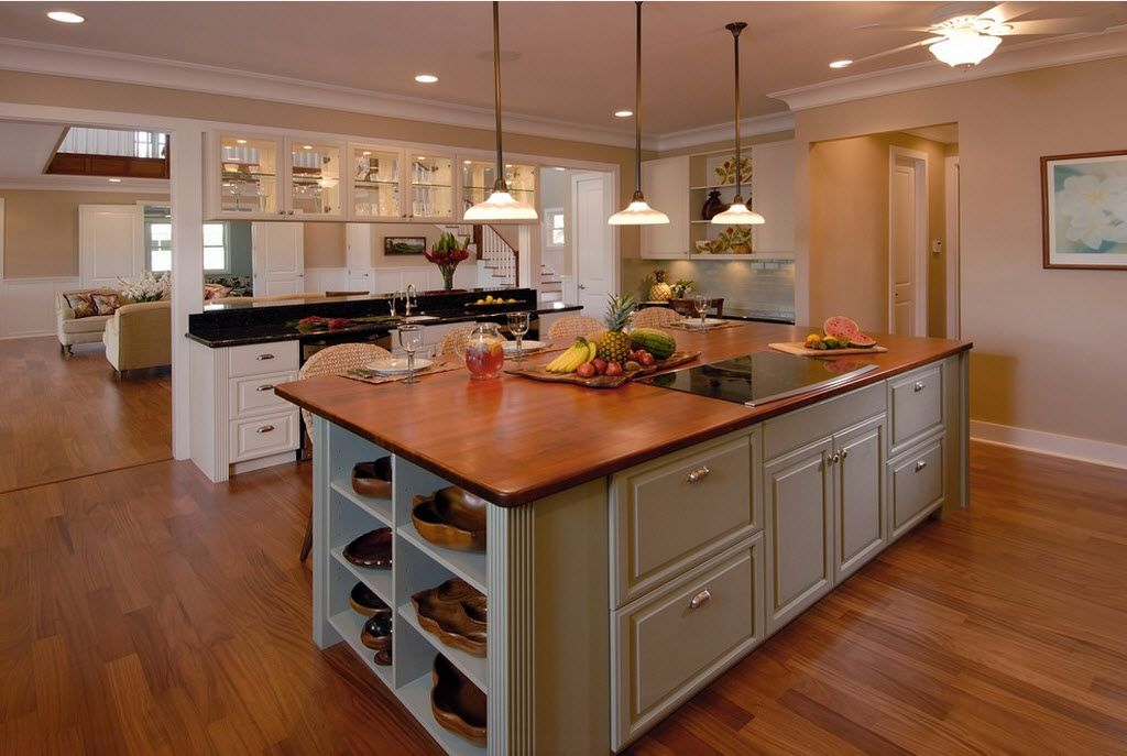 Combined Kitchen And Living Room Interior Design Ideas Large Island To Arrange The Cooking Zone