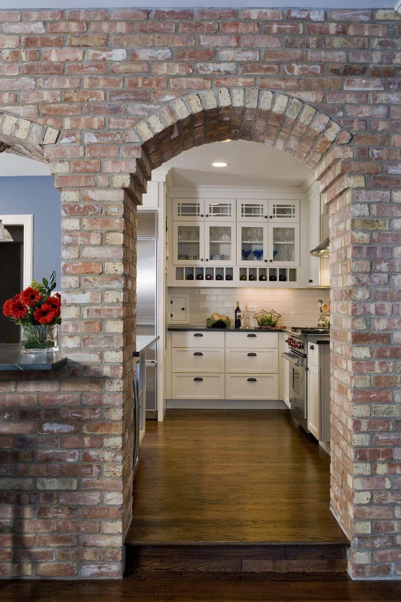 Interior Room Arches Decoration Ideas. Nice crude design in the kitchen