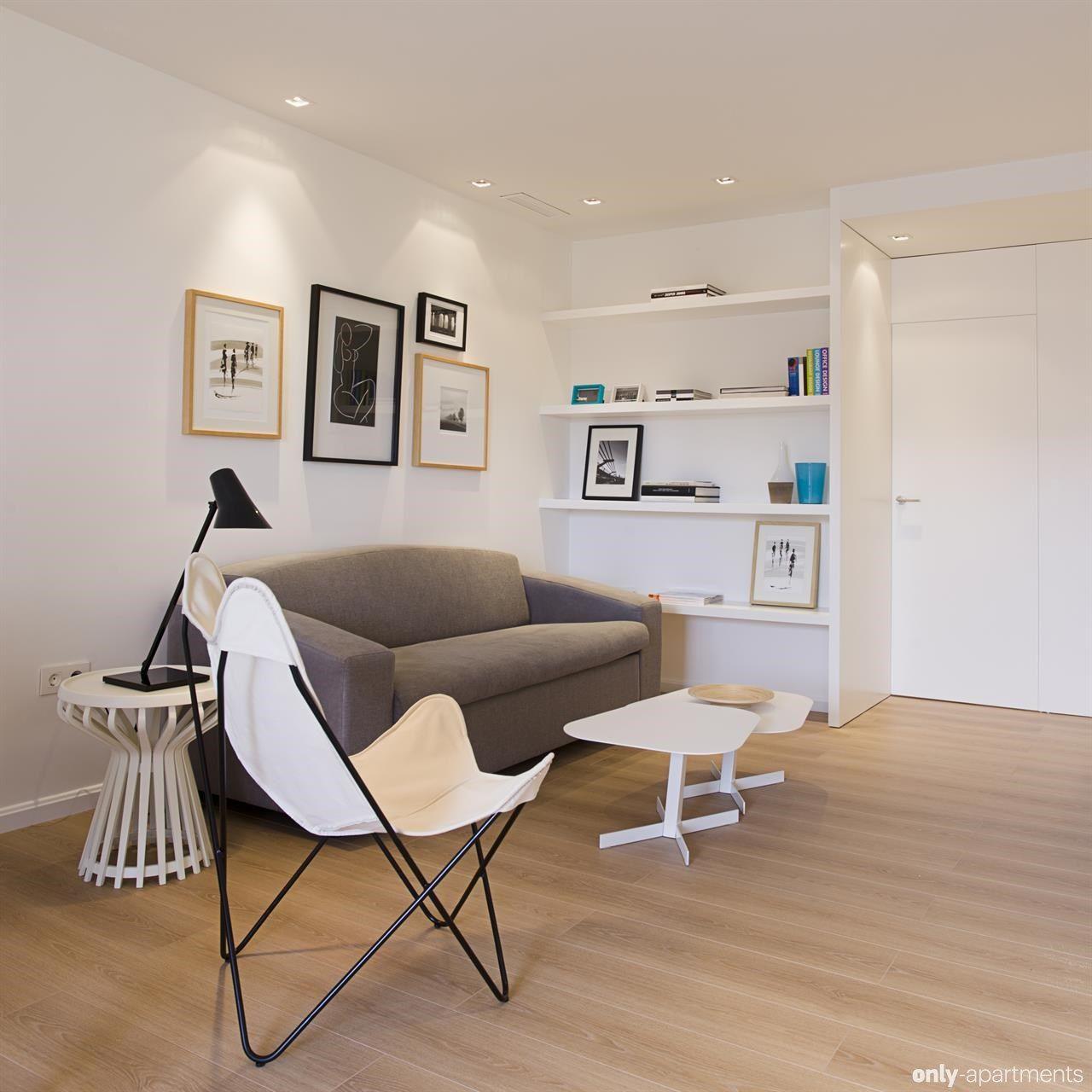Modern Interior Design Laminate Use. White interior with light wooden floor