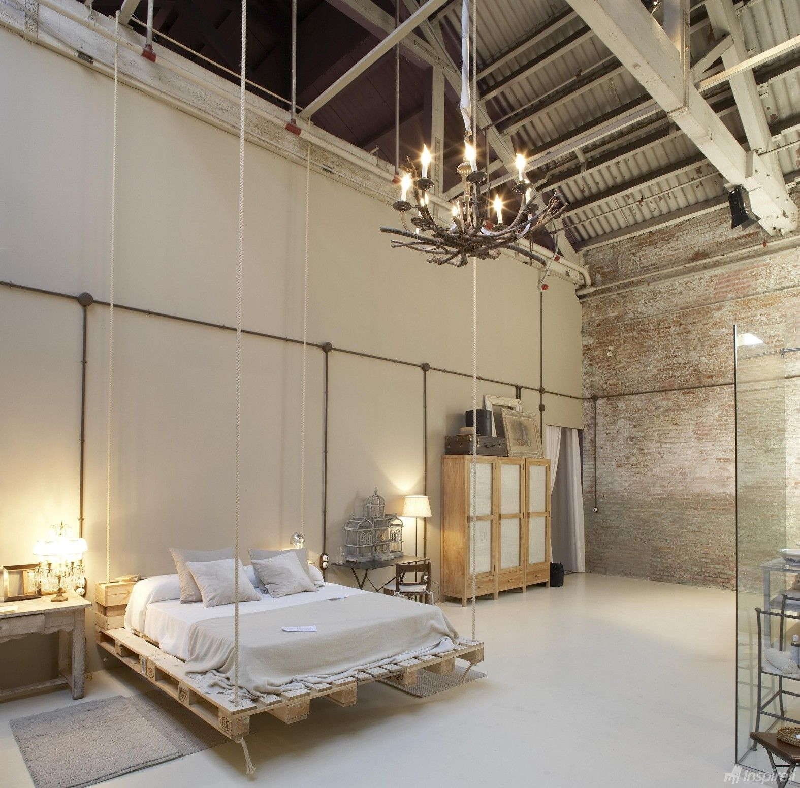 Bedroom Furniture Design Trends 2016. Unusual radical loft design for the former commercial premises with swing bad
