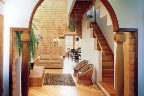Interior Room Arches Decoration Ideas. Roman vault with columns, original idea