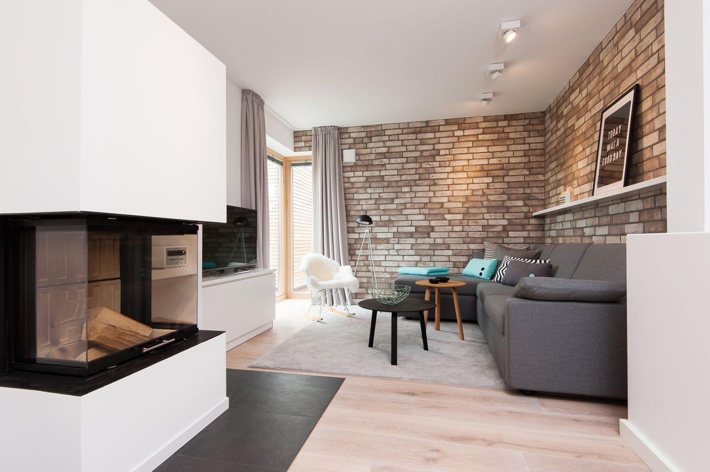 Modern Interior Design Laminate Use. Nice Stone Tiles At The Walls  Harmonize With The Laminate