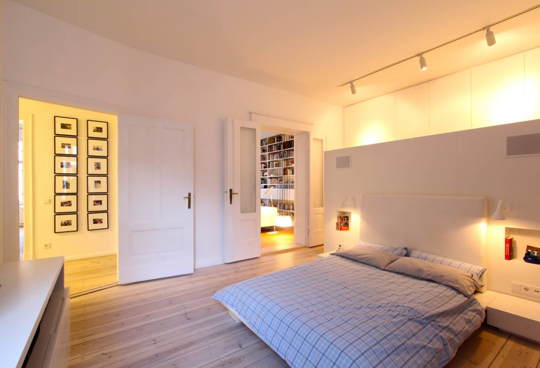 Bedroom Furniture Design Trends 2016. Nice white interior with the doors to a couple of another locations