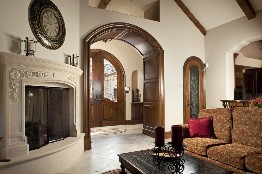Interior Room Arches Decoration Ideas  Wooden classic Mediterranean style
