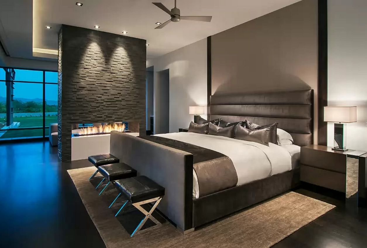 Modern Bedroom Design Trends 2016 . Black And White Combination In The Nice  Hi Tech. Applying A Black Color For Decoration ...