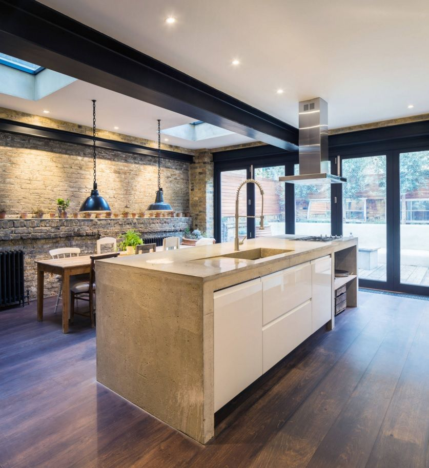 Kitchen Design Latest Trends 2016. brickwork in the private house interior