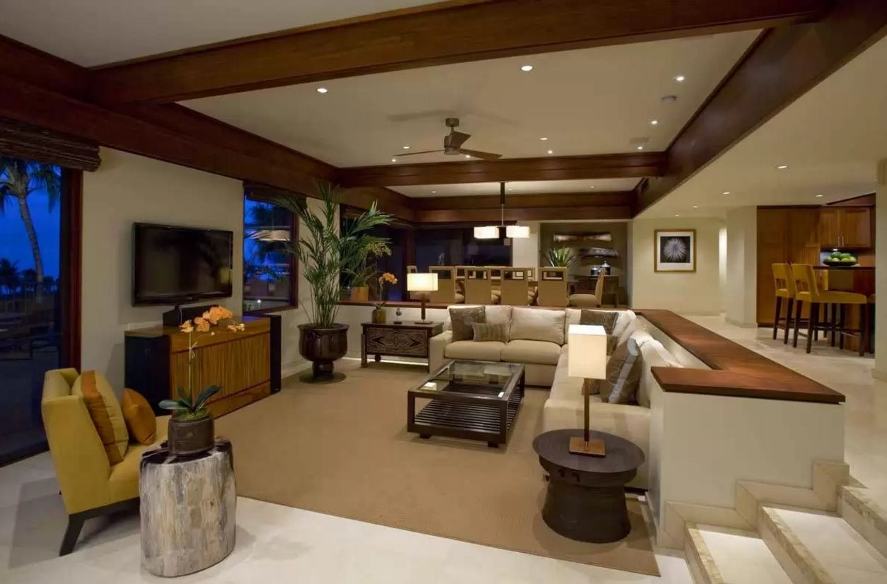 Living Room Most Topical Design Trends 2016. Juicy chocolate tone is appetizing and exciting