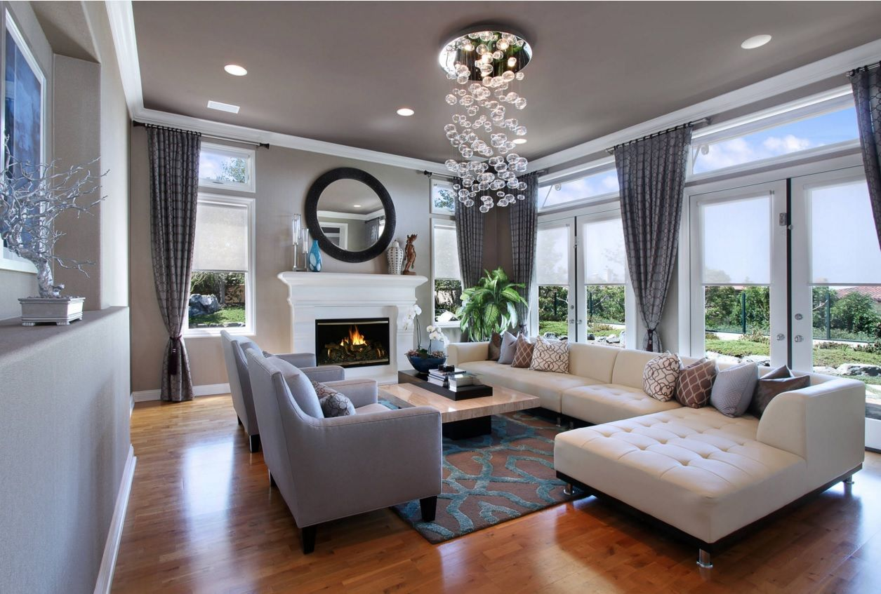 Living Room Most Topical Design Trends 2016. Gray is very trendy color  within minimalistic,