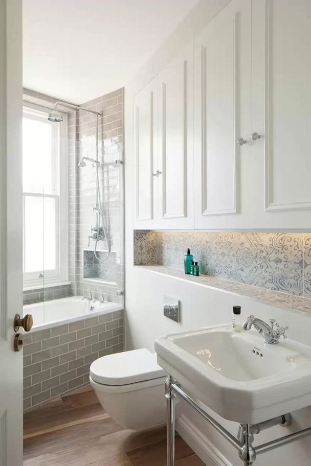 Choosing New Bathroom Design Ideas 2016. combined materials to finish the white interior