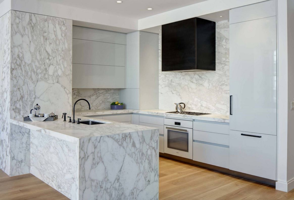 Kitchen Design Latest Trends 2016. Marble trimmed furniture and countertop
