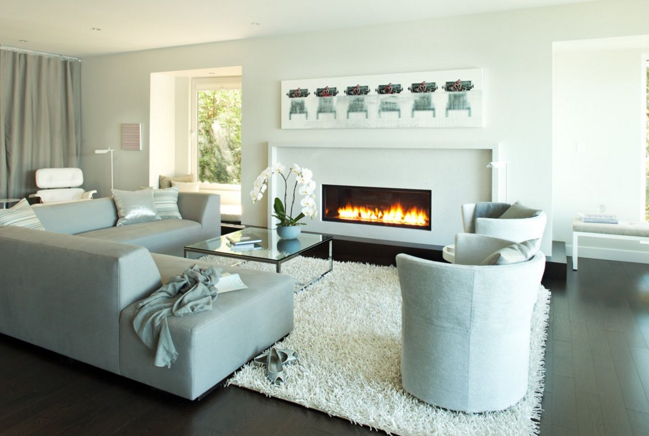 Living Room Furniture Trends 2016. Electric fireplace for eco spaces