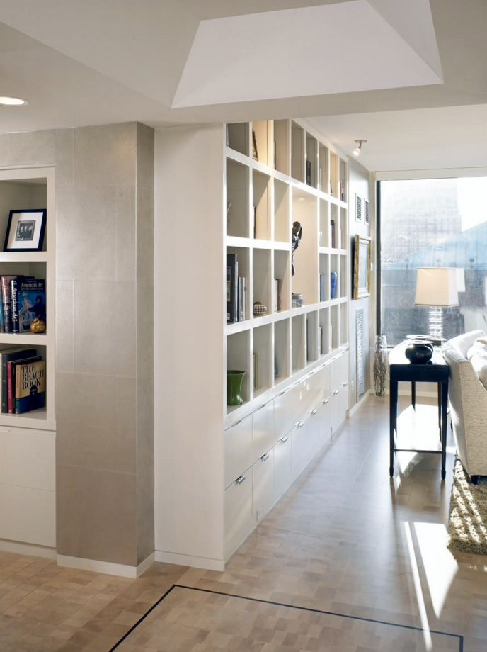 Living Room Furniture Trends 2016 White Space With Neat Storage Wall System
