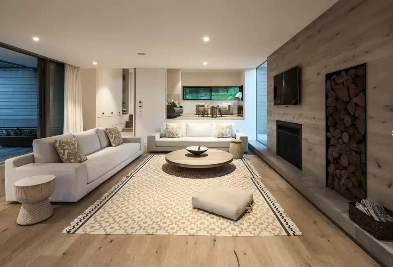 Living Room Most Topical Design Trends 2016. Floorboard and the rug to please households in the convenient apartment