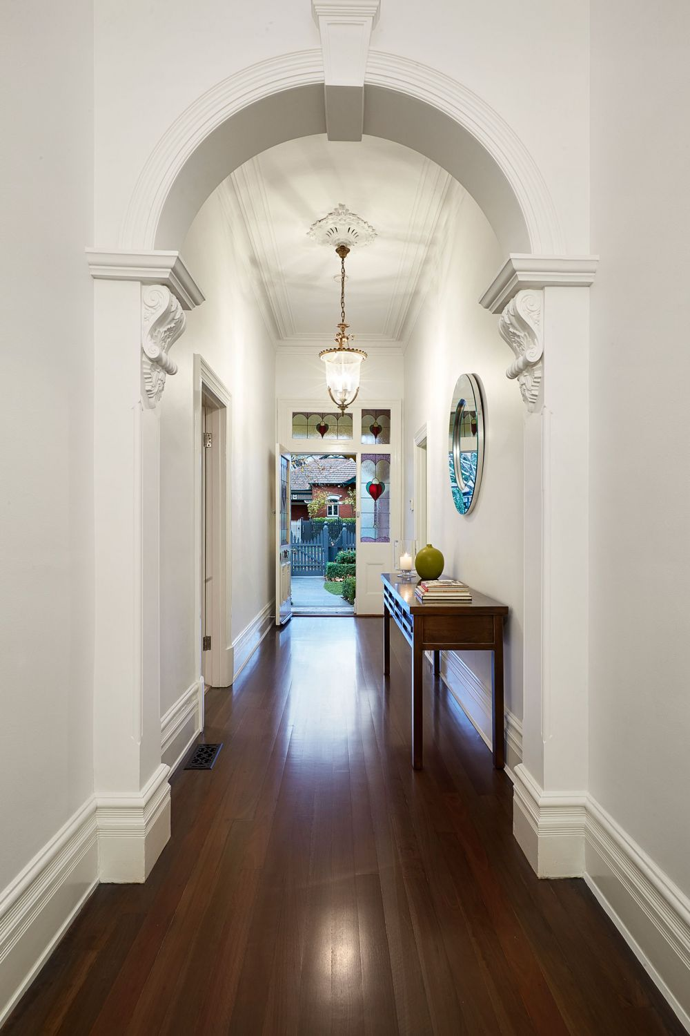 Interior Room Arches Decoration Ideas. White plaster structure in the hallway