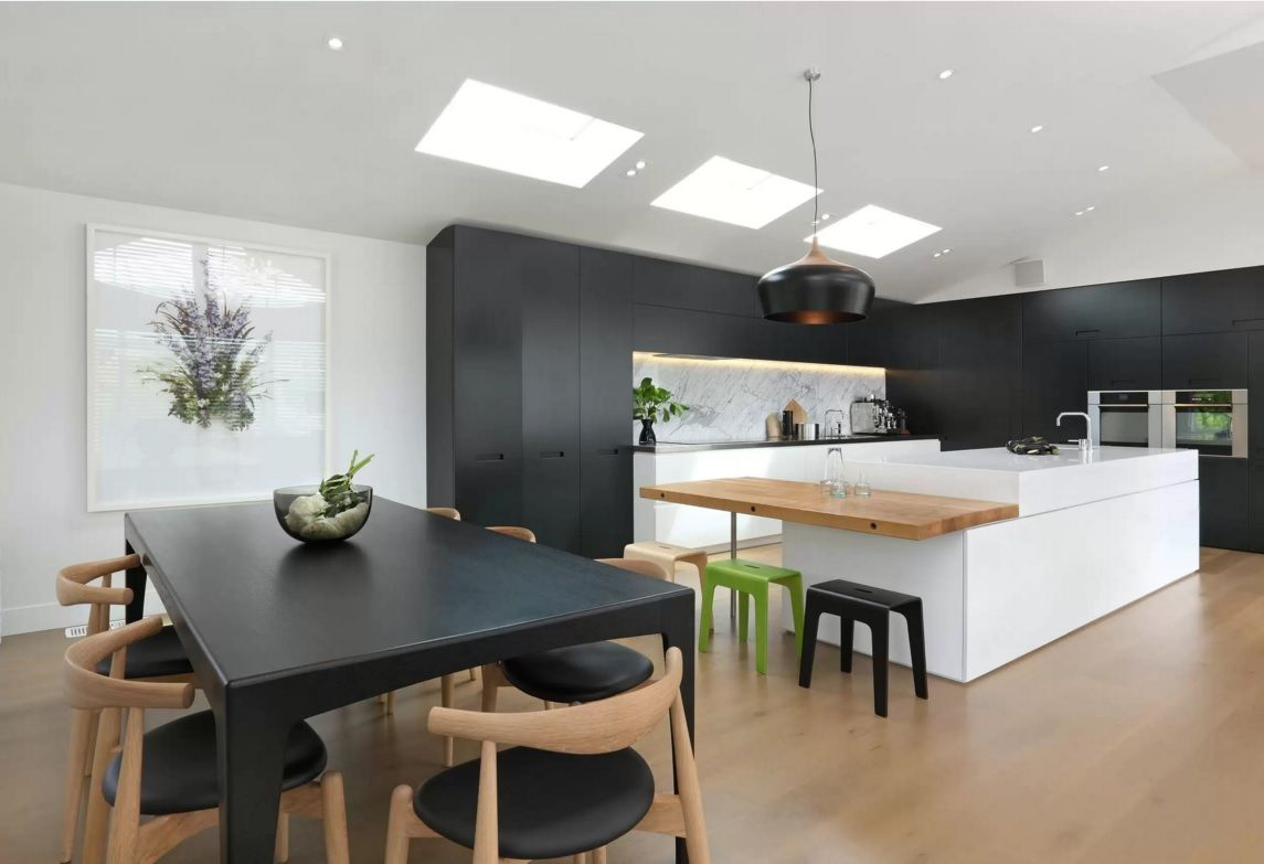 Kitchen Design Latest Trends 2016. Wooden and black fills the room with nobility and weight