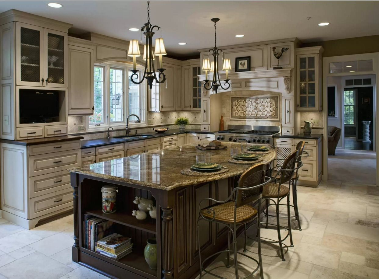 Kitchen Design Latest Trends 2016. Luxurious classic furniture set of expensive natural materials