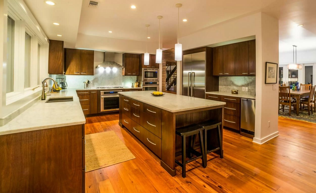 Kitchen Design Latest Trends 2016. Simple kitchen design with wooden flooring