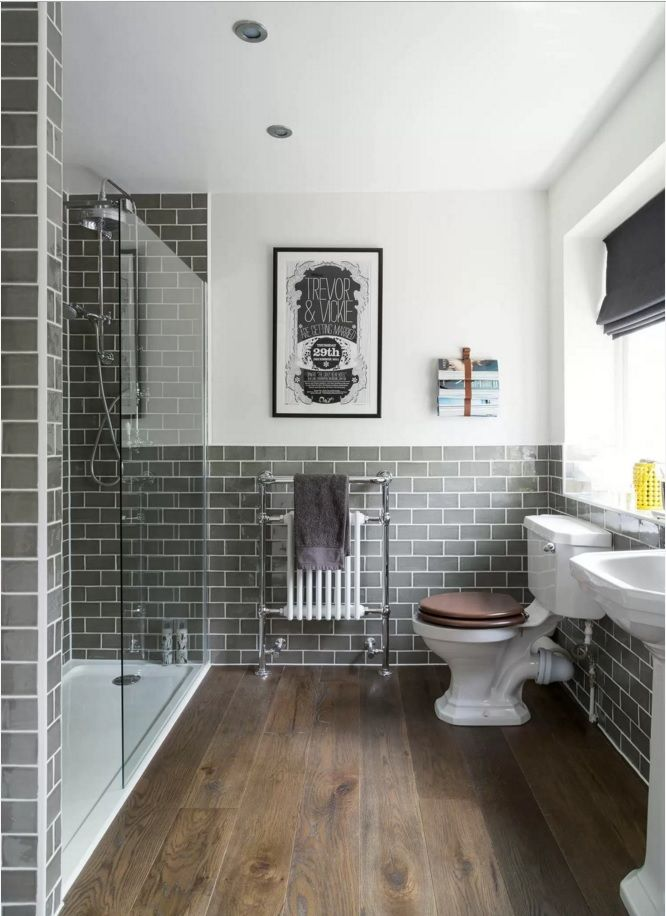 Choosing New Bathroom Design Ideas 2016. Metro tile blocks are always in harmony with utilitarian interior