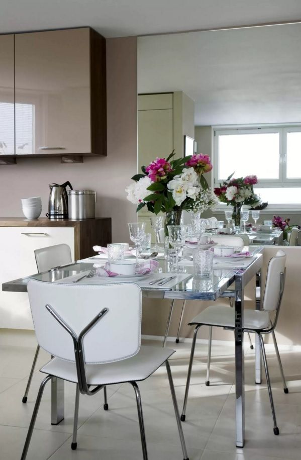 Kitchen Design Latest Trends 2016. Dining area in the light rooms
