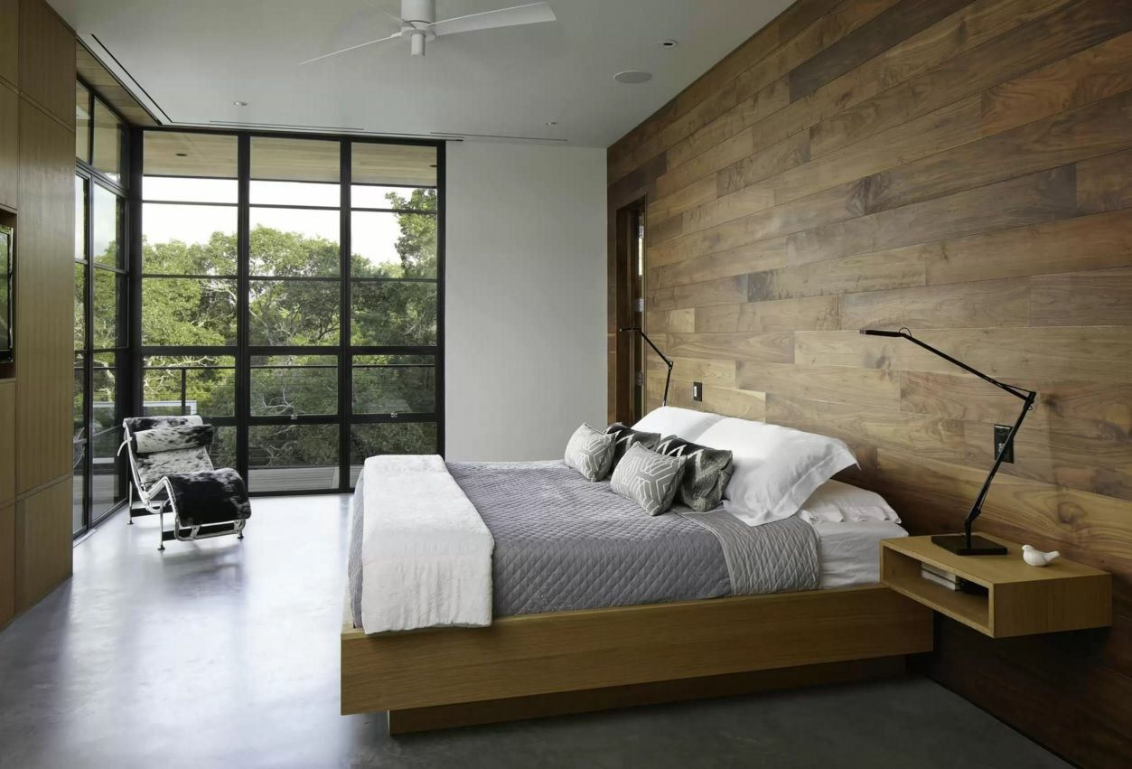 Modern bedroom colors 2016 - Nice_wooden_bedroom_boards