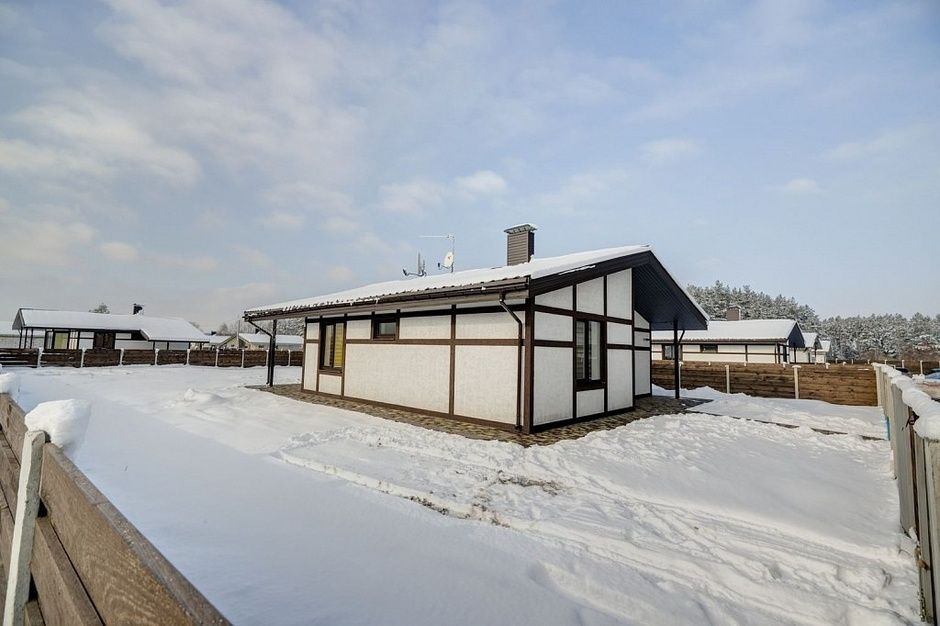 Private Houses Village Typical Design Projects. Exterior in the winter