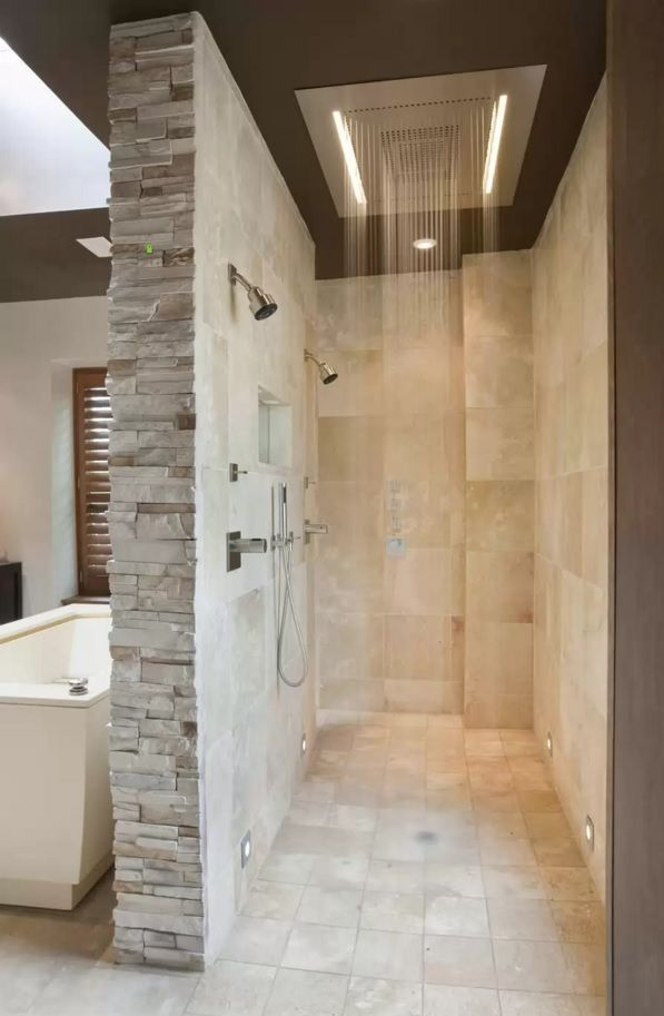 Choosing New Bathroom Design Ideas 2016. Nice looking trimming of stone tile in the gray interior