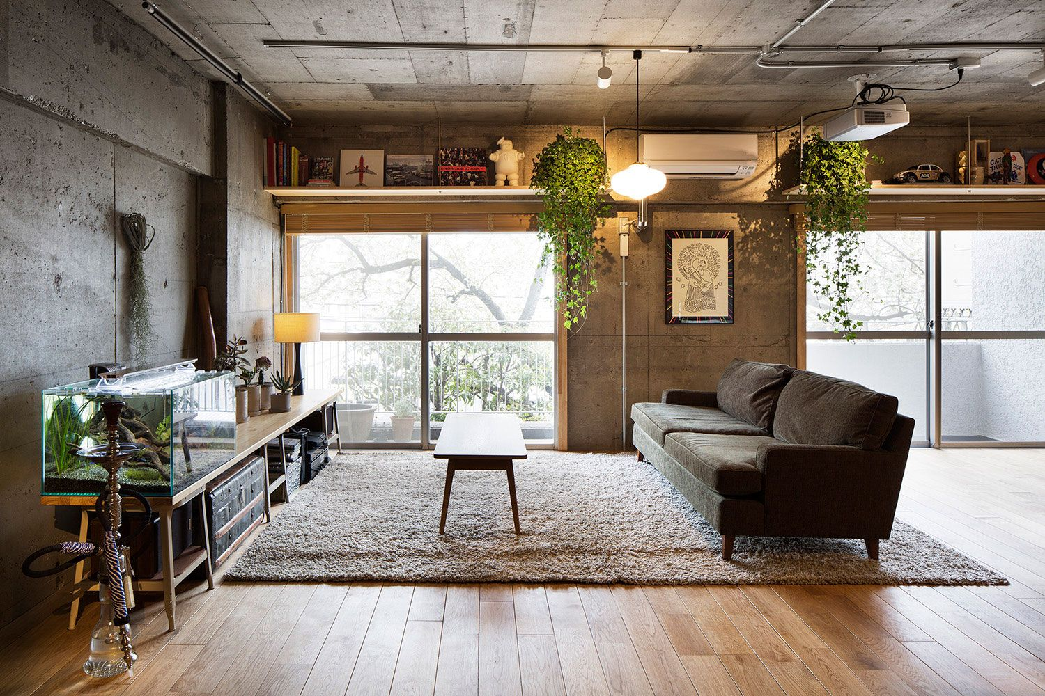 Modern Interior Design Laminate Use. Grunge mix of styles with many successful designer`s solutions