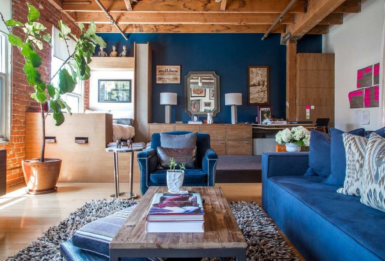 Living Room Most Topical Design Trends 2016. A bit of nature in the atmosphere of the bright experimental living room