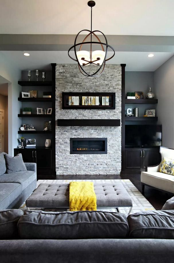 Living Room Most Topical Design Trends 2016. Gray palette is dominant in modern apartments