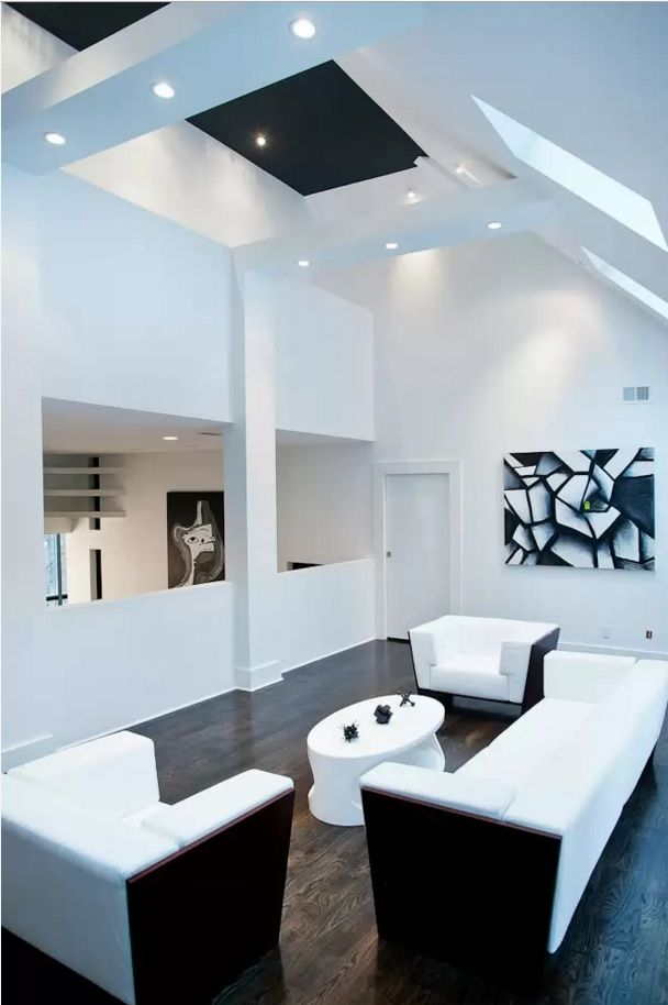 Living Room Most Topical Design Trends 2016. Dark floor in the light room interior is stilll topical