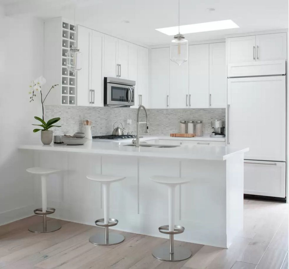 Kitchen Design Latest Trends 2016. Snowe white walls blends well with light laminate