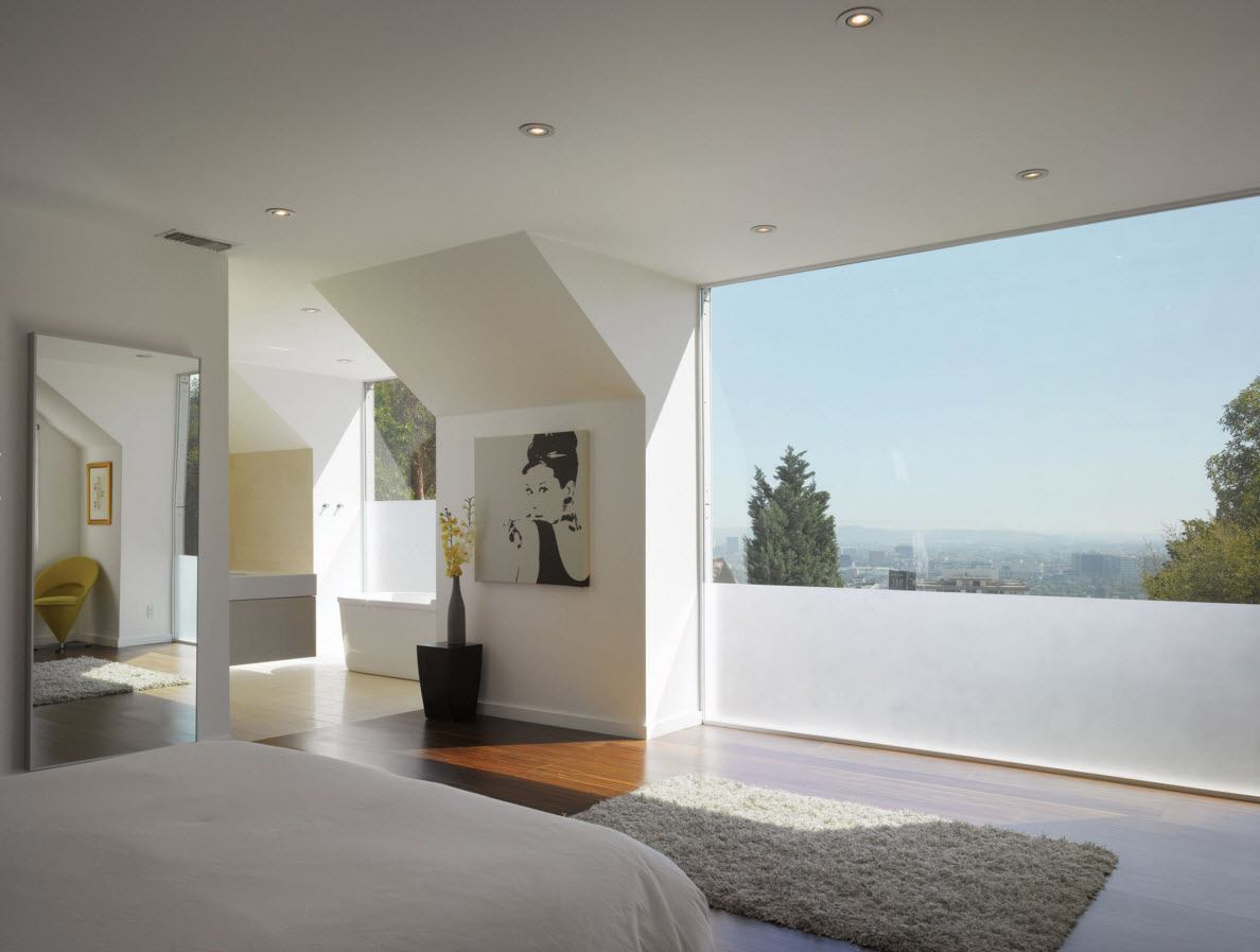 Panoramic Windows Design and Using in Modern Homes Ideas. Panoramic glass panel in the modern seaside apartment