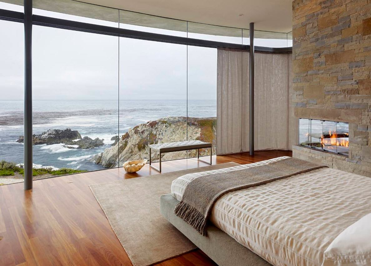 Panoramic Windows Design and Using in Modern Homes Ideas. Really panoramic wall-length showcases with the ocean perspective