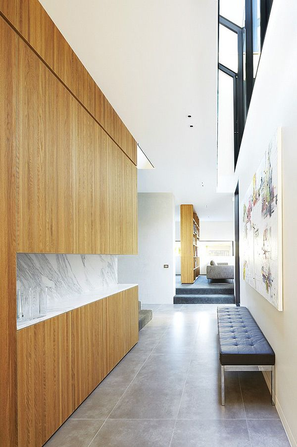Modern Hallway Decoration Design Ideas. Stone or concrete tiles turns interior more strict and official but highly impacts the easiness of sustaining of the cleanliness