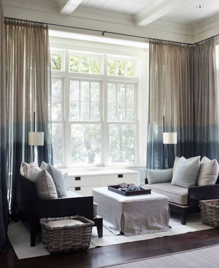 Panoramic Windows Design and Using in Modern Homes Ideas. panoramic windows in the business looking living room of classic style