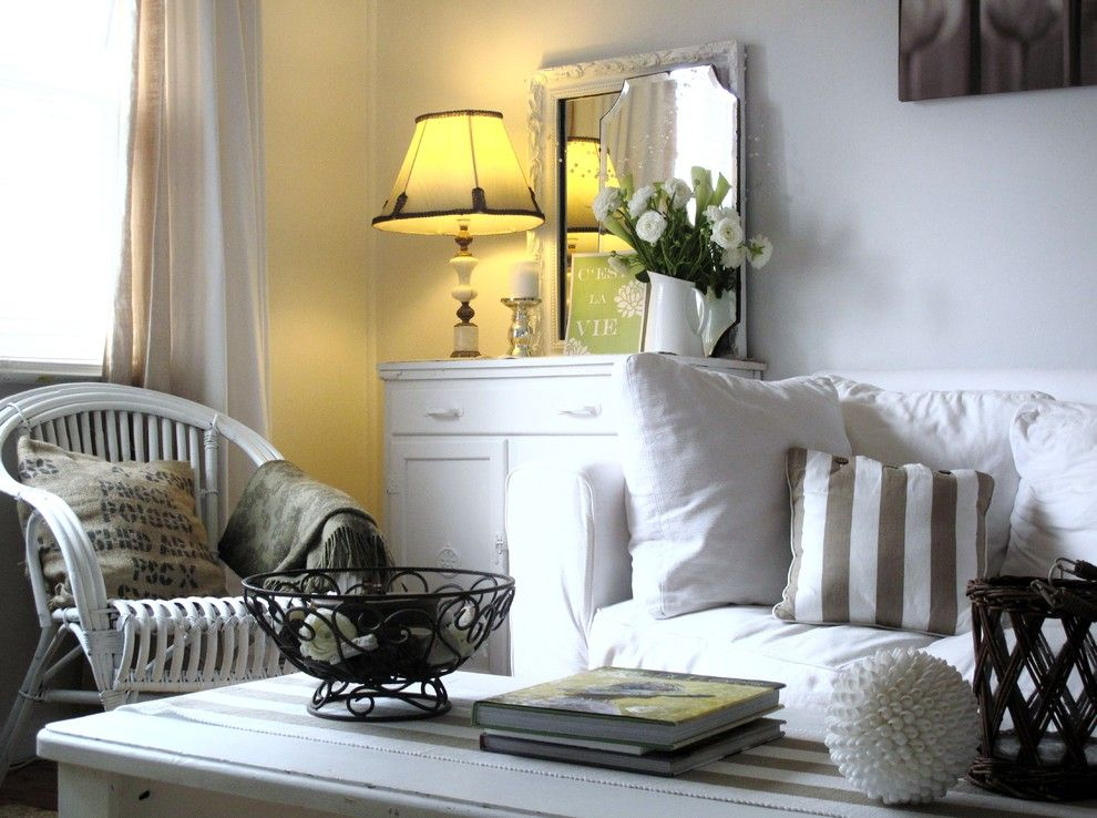 Shabby Chic Interior Design Style. Dark spots of the style on real photo