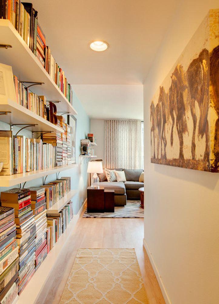 Bookshelf right at the corridor