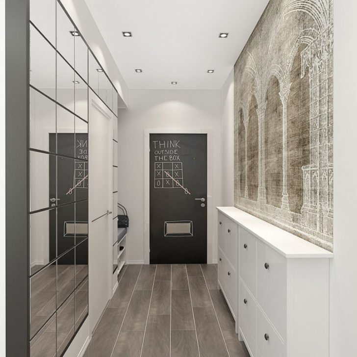 The mirrors visually enlarge the space