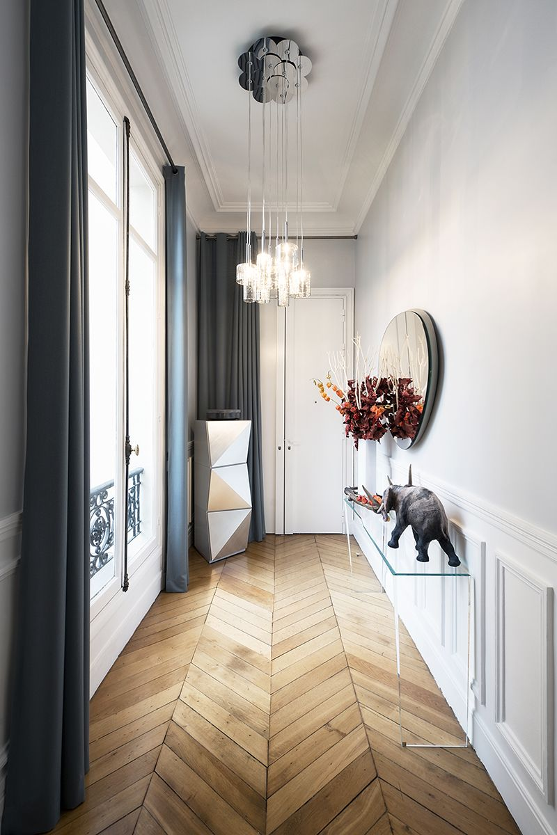 Modern hallway decoration design ideas small design ideas for Salon haussmanien