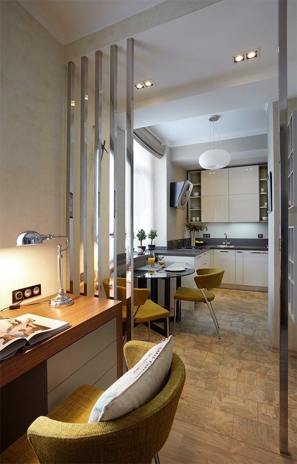 Small Design Ideas for Oblong Rooms. Zoning of the area is the main method to arrange the space